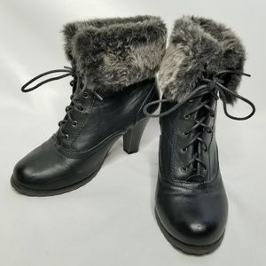 Diva Lounge Black and Gray Ankle Booties